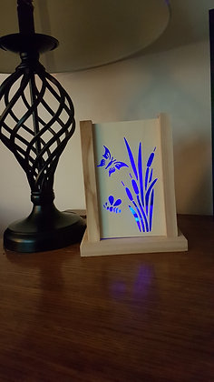 Bullrushes LED Candle Holder