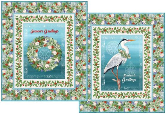 Blue Heron & Christmas Wreath Wall Hanging