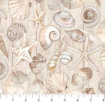 Coastal Christmas Sea Shells Neutral