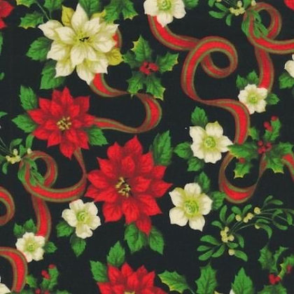 Christmas Flowers & Ribbon
