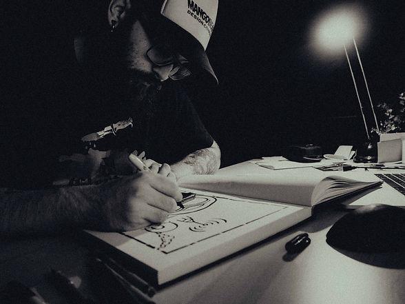 mangobeard johan erenius artist graphic designer skurup sweden