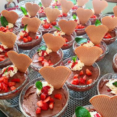 Schokoladen-Erdbeer Mousse