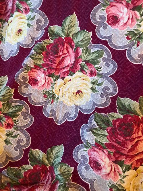 Vintage Floral Barkcloth