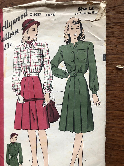 Hollywood Vintage Sewing Pattern
