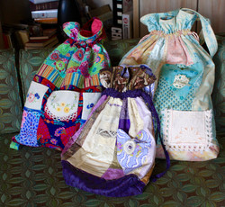 Bags with vintage linen