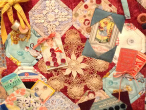 Vintage Sewing Notions Quilt