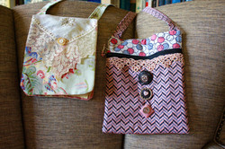 Bags with vintage lace