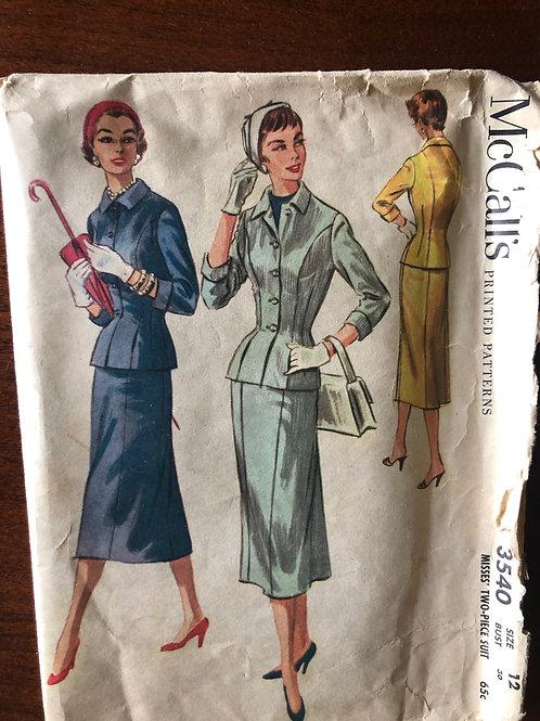 Vintage Pattern - Women's Suit