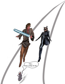 Luke and Catwoman-Animated
