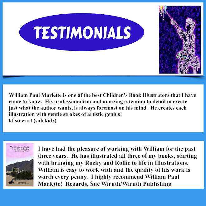 Information and Testimonials for Children's Book Illustrations