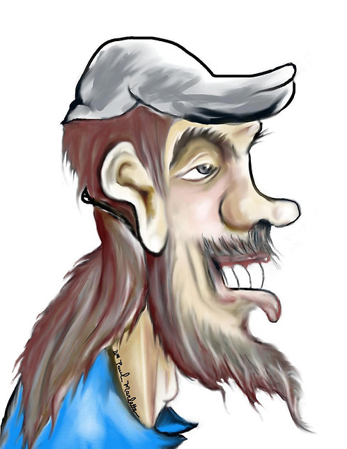 Click On This Sample & Follow the PayPal Prompts for your Custom Caricature