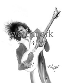 Rock Star Caricature of Prince