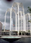 Science Center - fountain and arch