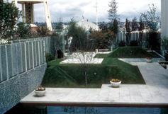 Garden area outside Science Center