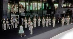 Seattle World's Fair Band outside Coliseum