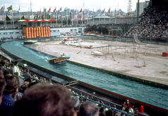 Water show - boat jumping ramp