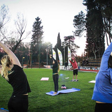 Yoga at the Lake Tirana