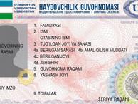 В Узбекистане водительские права нового образца получили статус документа, удостоверяющего личность
