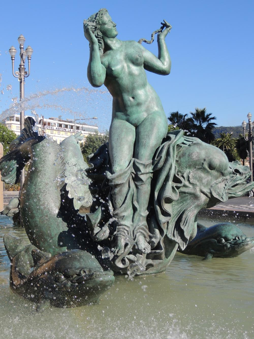 """Statue bassin """"Fontaine du Soleil"""""""