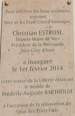 """Plaque """"Statue de la Liberté"""""""