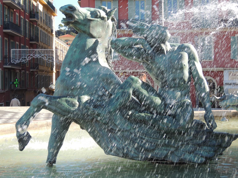"""Statue en bronze """"Fontaine du Soleil"""