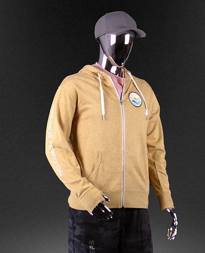 Golden Full Zip light-weight Hoodie