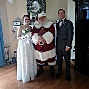 Jac Came To Officiate Our Wedding As Santa And Not Only Did He Provide A Beautiful Ceremony His Was Awesome Took The Time Talk My Four