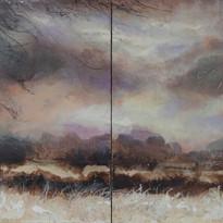Braun-Violett Serie Himmel 80x190cm