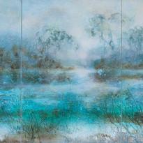 Manganeseblau Serie Seen 100x210cm