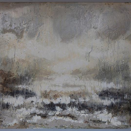 Perlenweiß Serie Horizonte 140x150cm