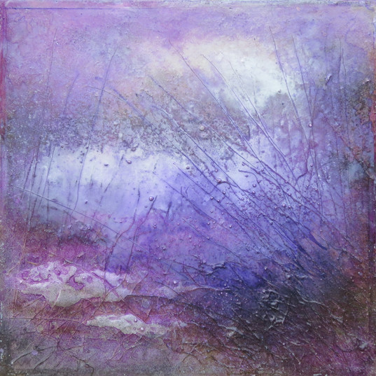 Lavendel Serie Schilf 50x50cm
