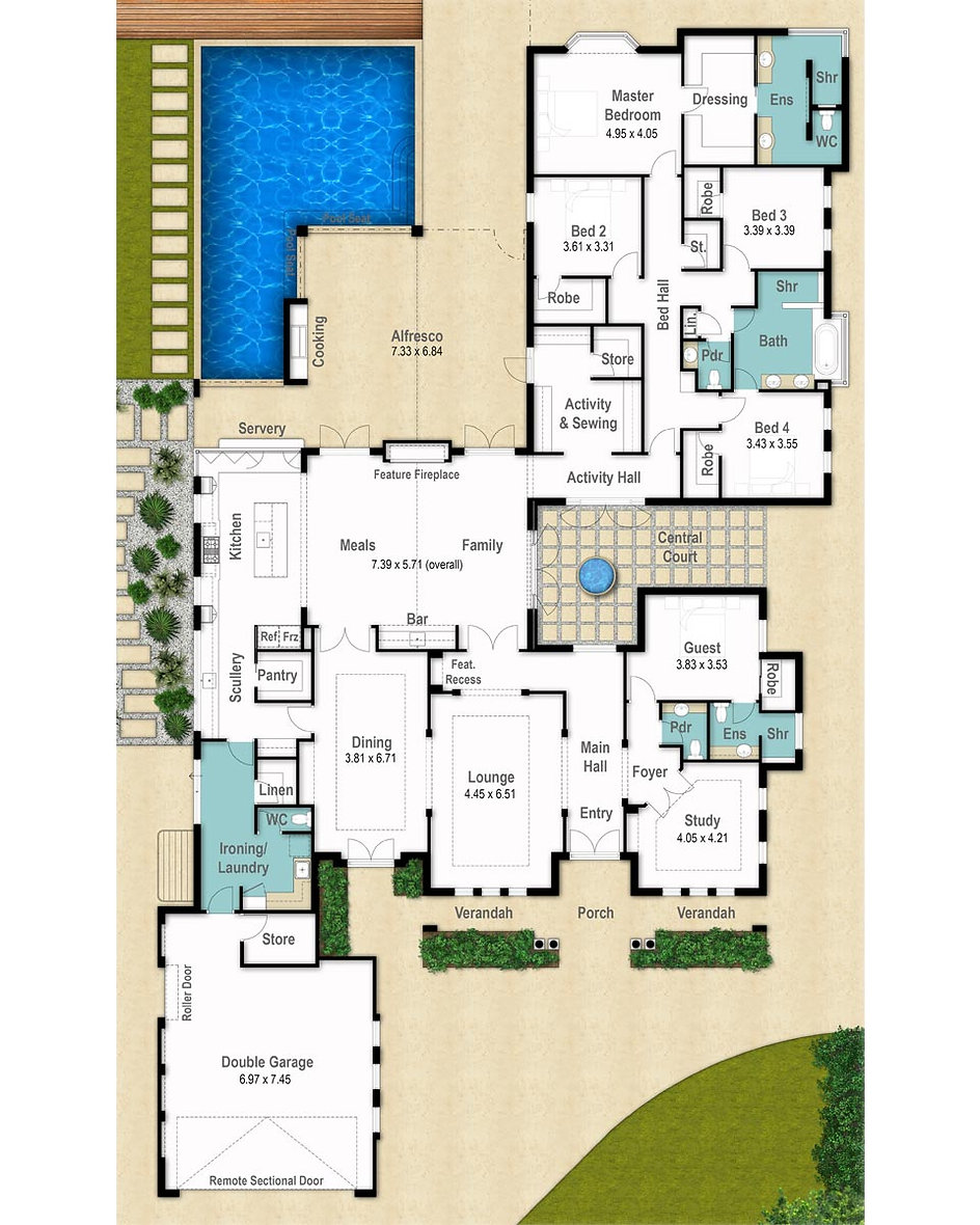 Single Storey House Floor Plan - The Stanford by Boyd Design Perth