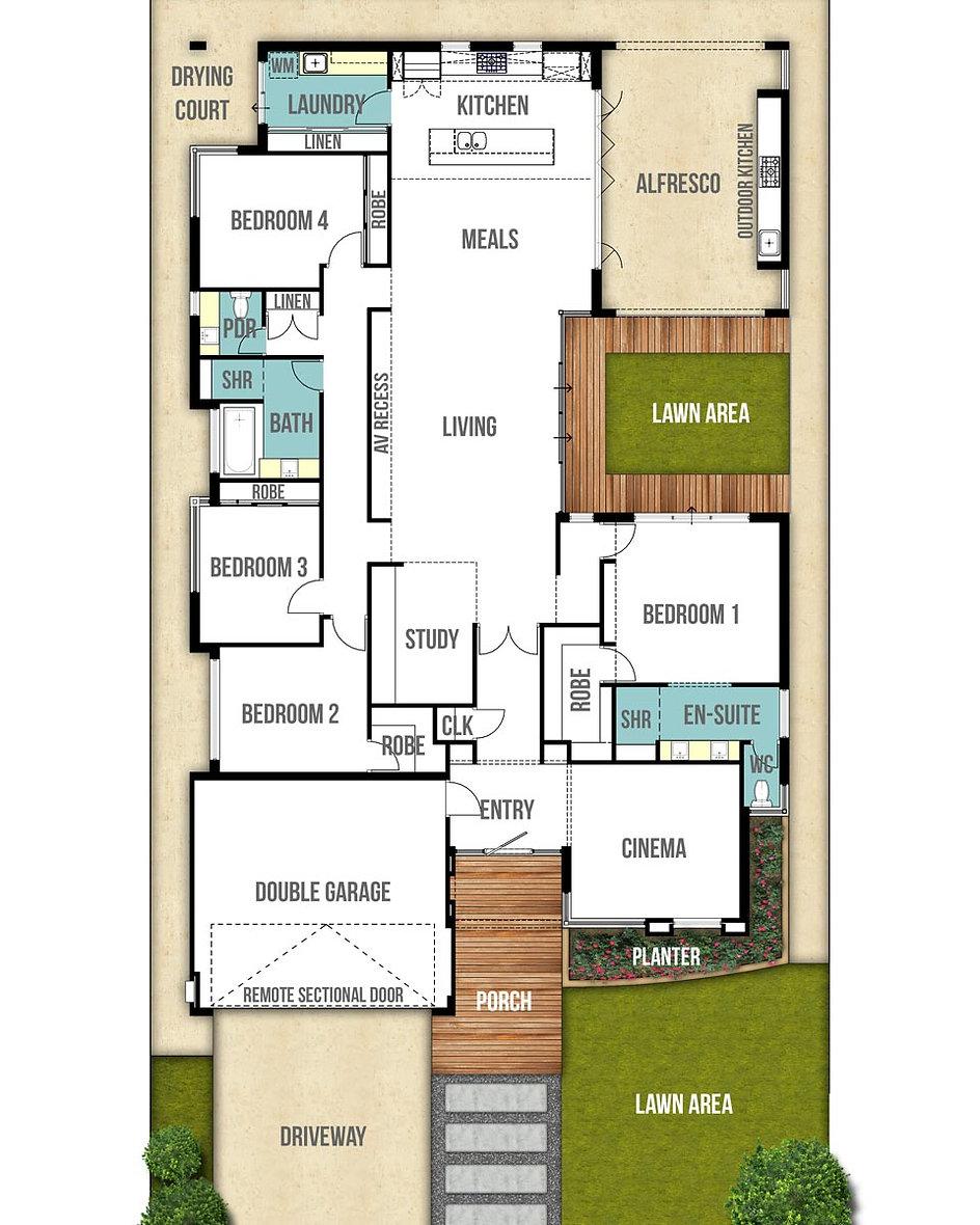Single Storey House Floor Plan - The Aspen by Boyd Design Perth