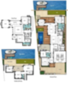 Three Storey House Floor Plans - The Panama by Boyd Design Perth