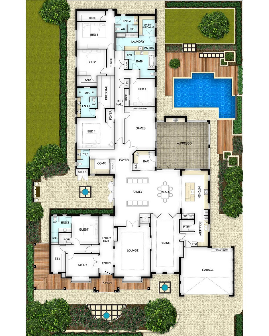Single Storey House Floor Plan - The Majestic by Boyd Design Perth
