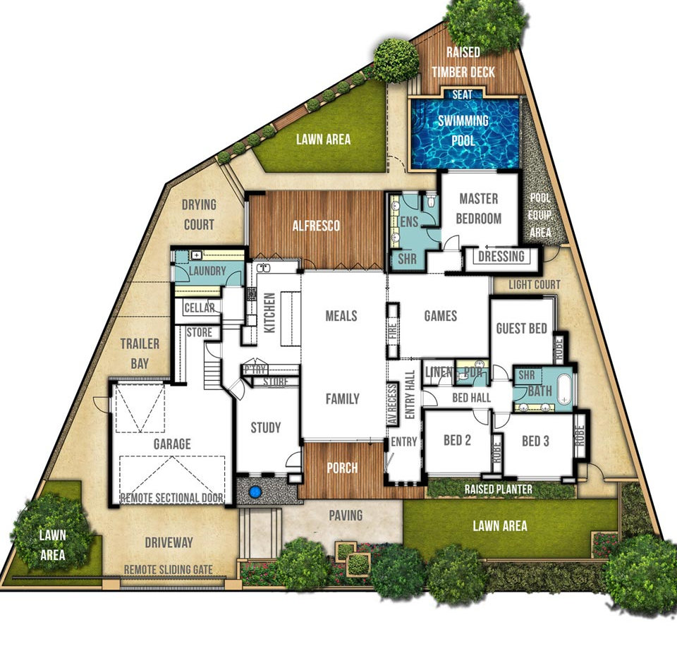 Single Storey House Floor Plan - The Carine by Boyd Design Perth
