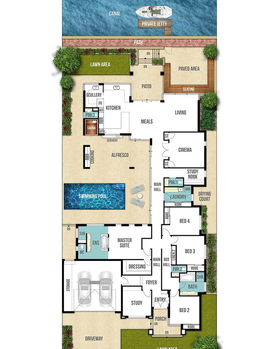 Canal House Floor Plan - The Centro by Boyd Design Perth