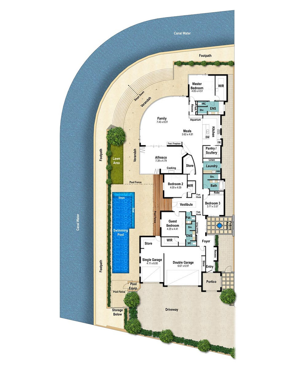 Canal House Floor Plan - The Geographe by Boyd Design Perth