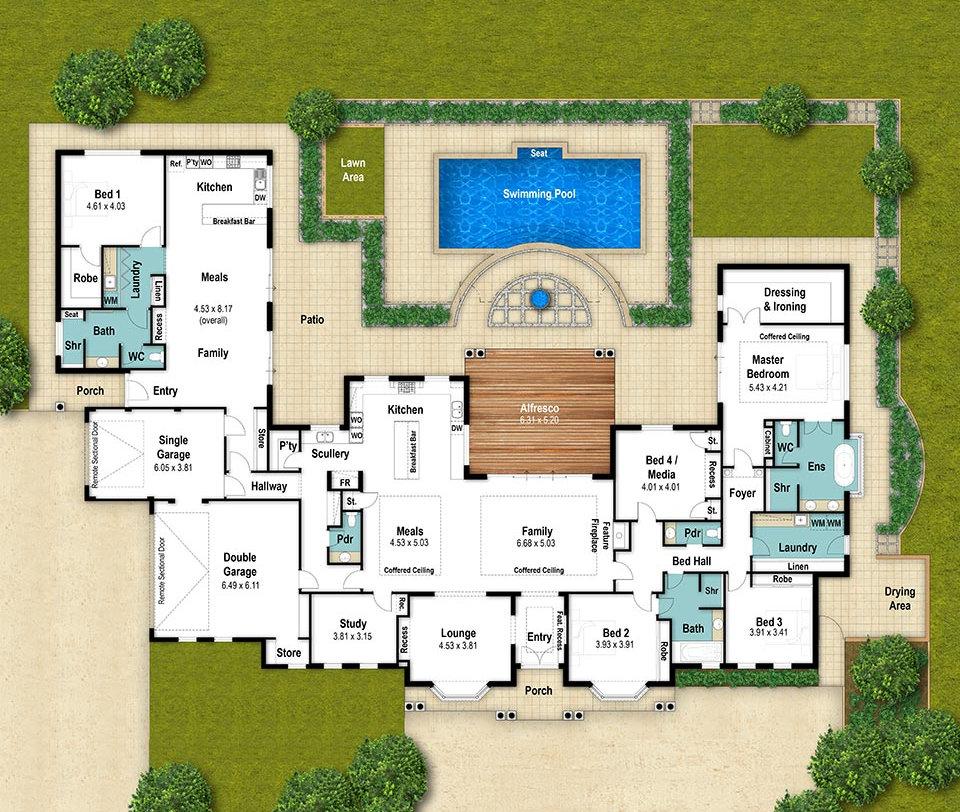 Single Storey House Floor Plan - The Fairbridge by Boyd Design Perth