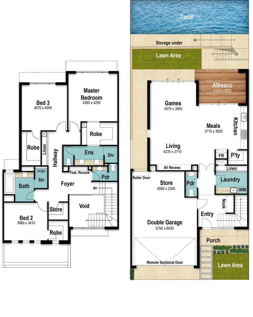 Canal House Floor Plans - The Promenade by Boyd Design Perth