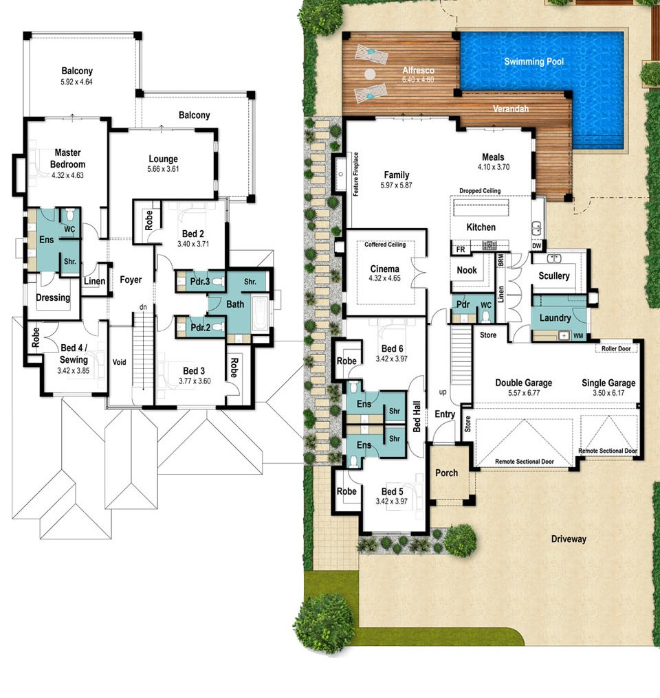 Two Storey House Floor Plans - The Windsor by Boyd Design Perth