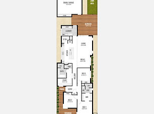 Narrow-Lot Home Design - The Freedom