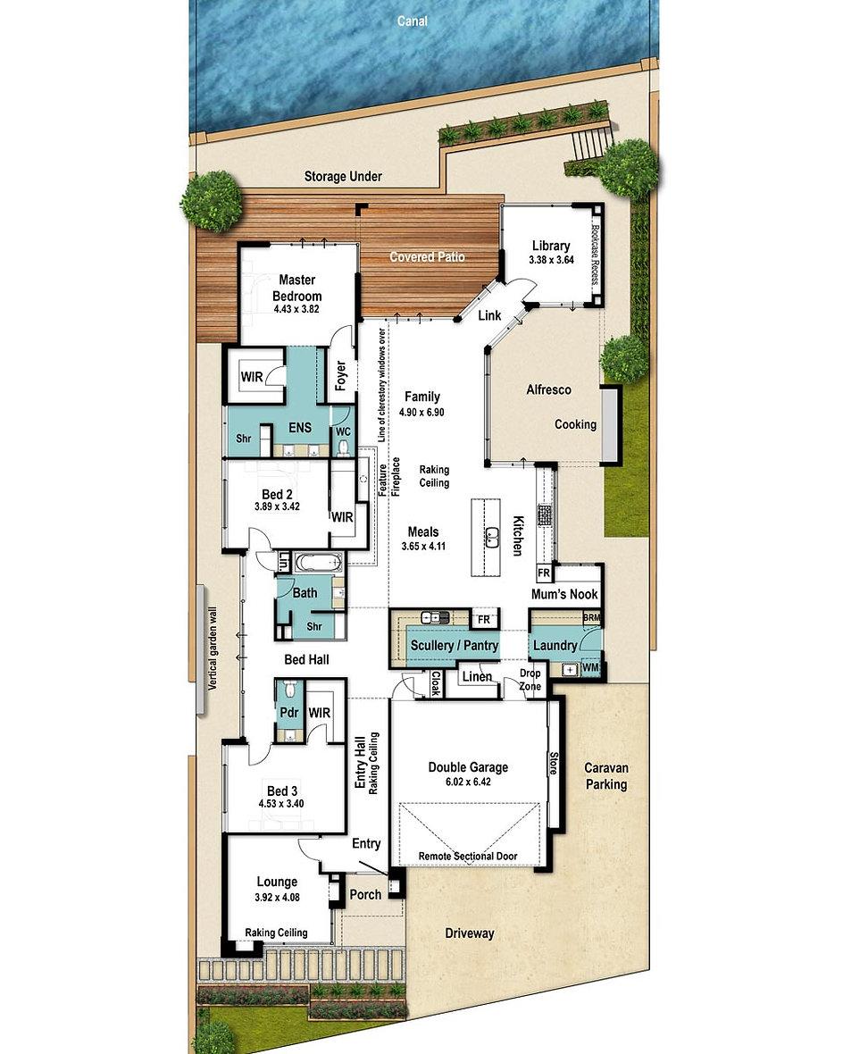 Single Storey House Floor Plan - The Link by Boyd Design Perth