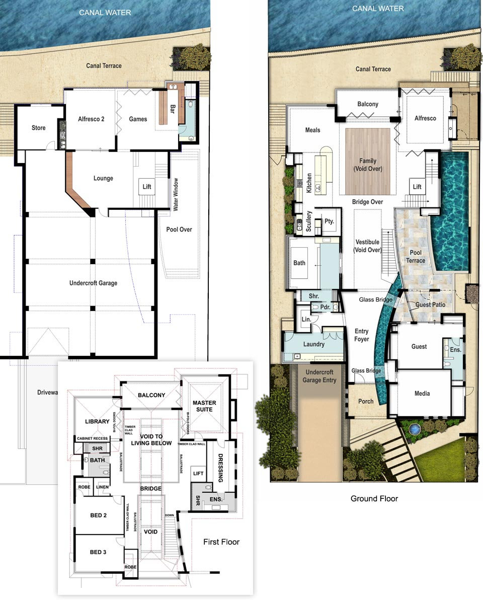 Undercroft Garage House Floor Plans - The Panorama by Boyd Design Perth