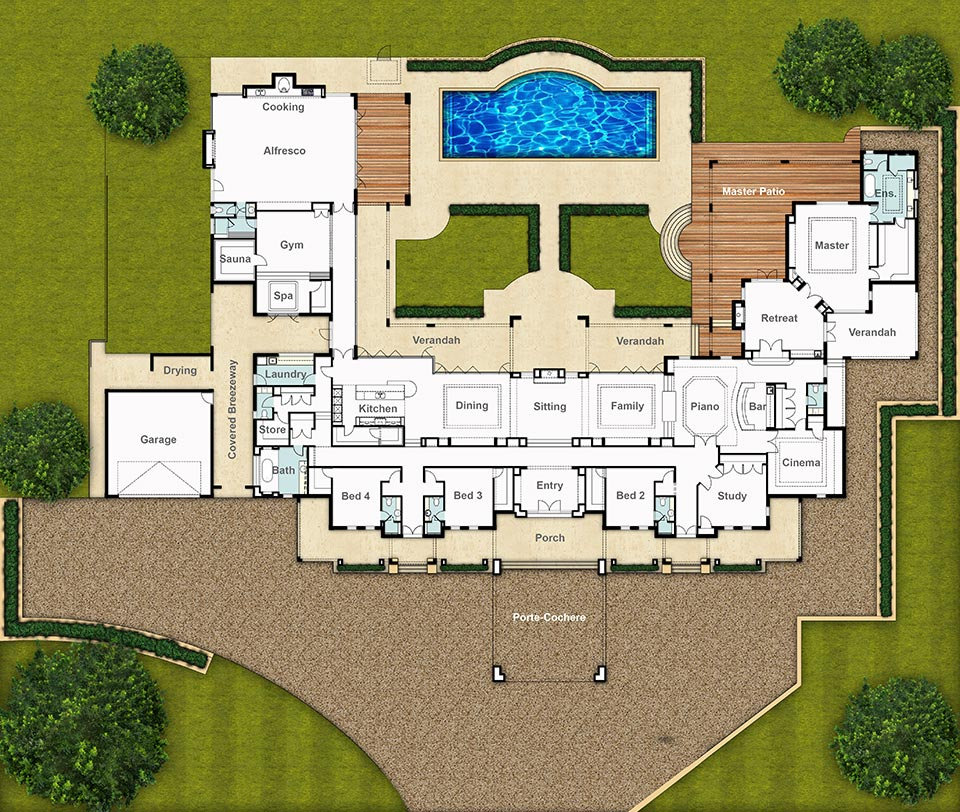 Split Level House Floor Plan - The Chateau by Boyd Design Perth