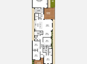 Narrow-Lot Home Design The Casablanca