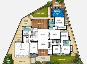 Split Level House Plan The Carine