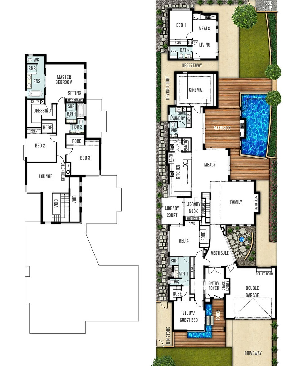 Two Storey House Floor Plans - The Orient by Boyd Design Perth