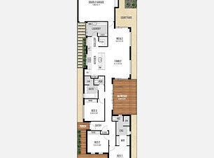Narrow-Lot House Plan - The Rhapsody