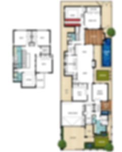 Two Storey House Floor Plans - The Retreat by Boyd Design Perth